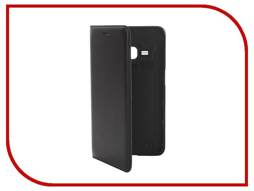 Аксессуар Чехол Samsung SM-J120 Galaxy J1 Flip Wallet Black EF-WJ120PBEGRU<br>