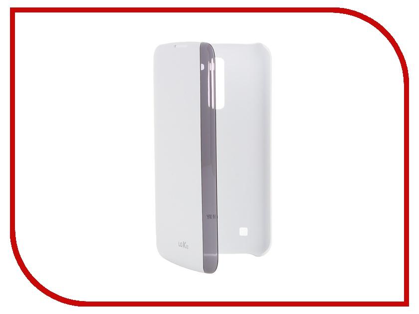 Аксессуар Чехол LG K410/430 FlipCover White CFV-150.AGRAWH lg k10 k410