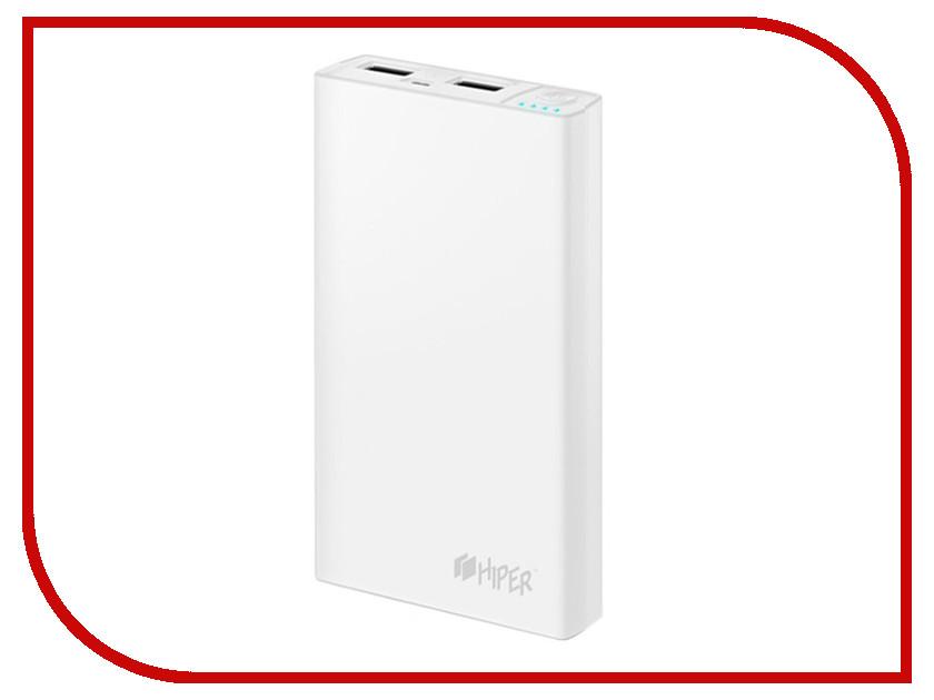Аккумулятор HIPER Power Bank RP12500 12500 mAh White<br>