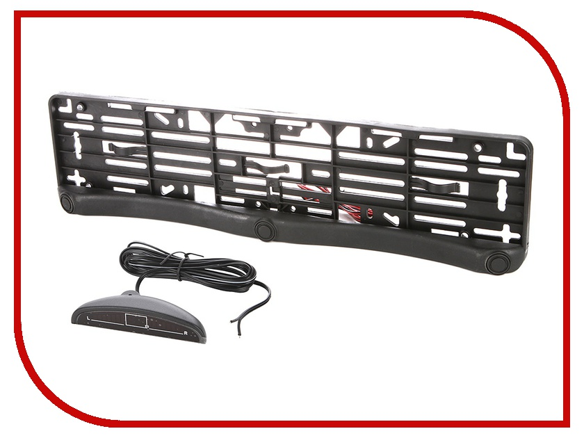 Парктроник Spider License Plate Frame PS - 3 датчика Black<br>
