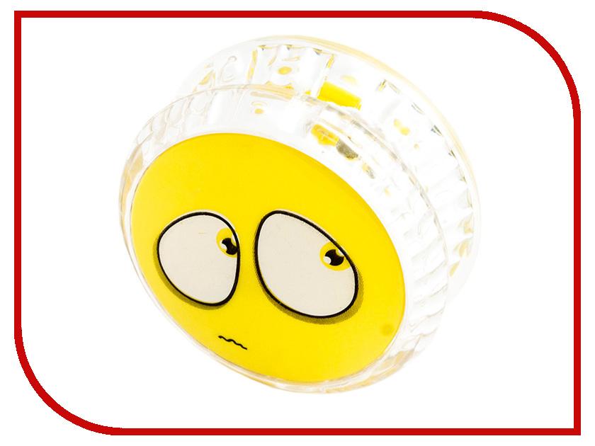 Йо-Йо Эврика Волчок на шнуре Смайл Yellow 97043 эврика йо йо инь ян цвет прозрачный