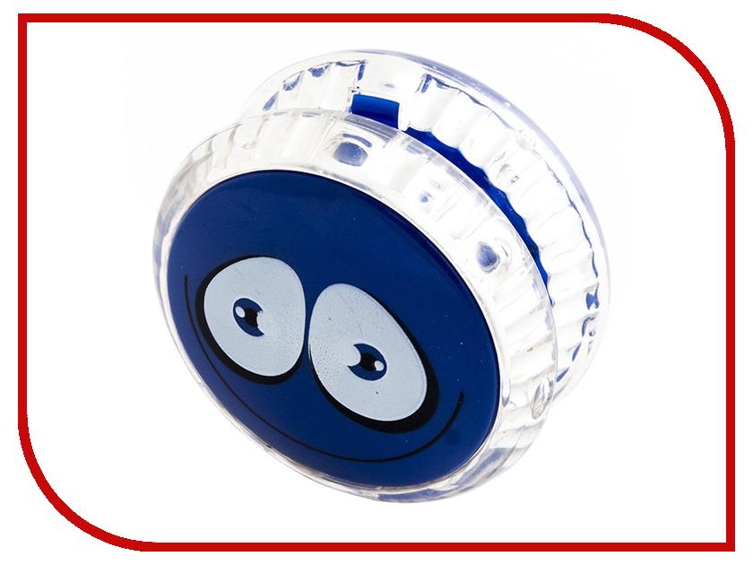 йо-йо Эврика Волчок на шнуре Смайл Blue 97039
