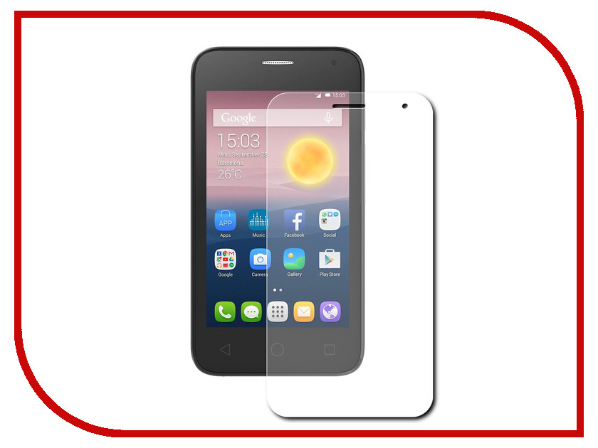 Аксессуар Защитная пленка Alcatel OneTouch 4024D PIXI First SP4024 Crystal ALC-G4024-3AALSPG мобильный телефон alcatel onetouch 2008g black white