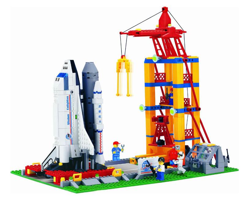 Конструктор Enlighten Brick Космодром с космическим кораблем 515<br>
