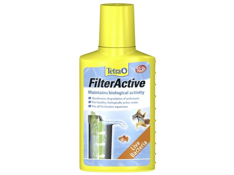 Средство Tetra FilterActive 247031 - кондиционер для поддержания биологической среды 100мл