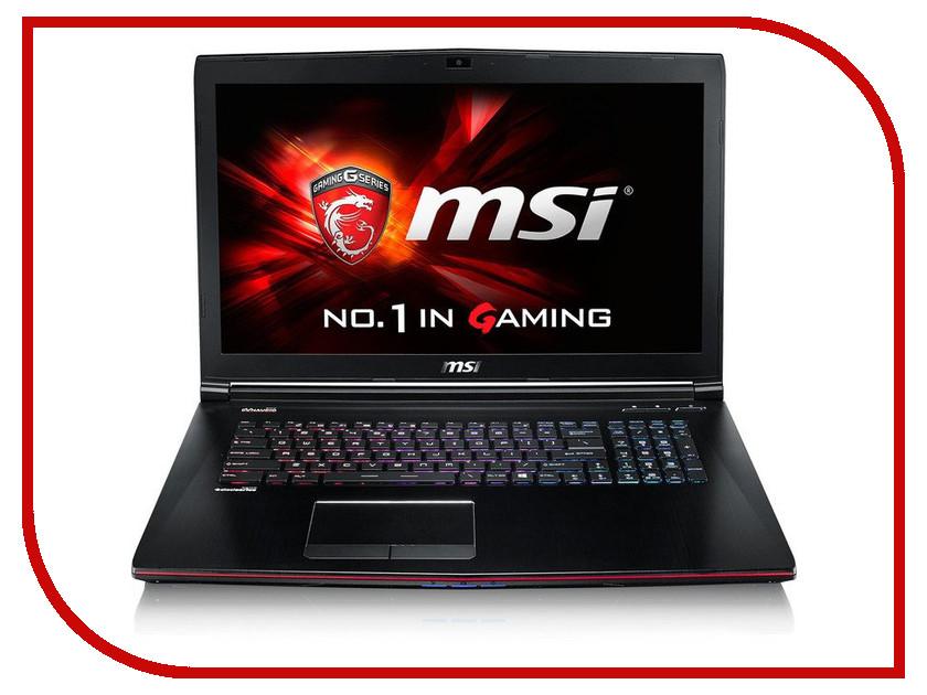 Ноутбук MSI GE72 6QE-270XRU 9S7-179541-270 Intel Core i7-6700HQ 2.6 GHz/8192Mb/1000Gb/DVD-RW/nVidia GeForce GTX 965M 2048Mb/Wi-Fi/Bluetooth/Cam/17.3/1920x1080/DOS