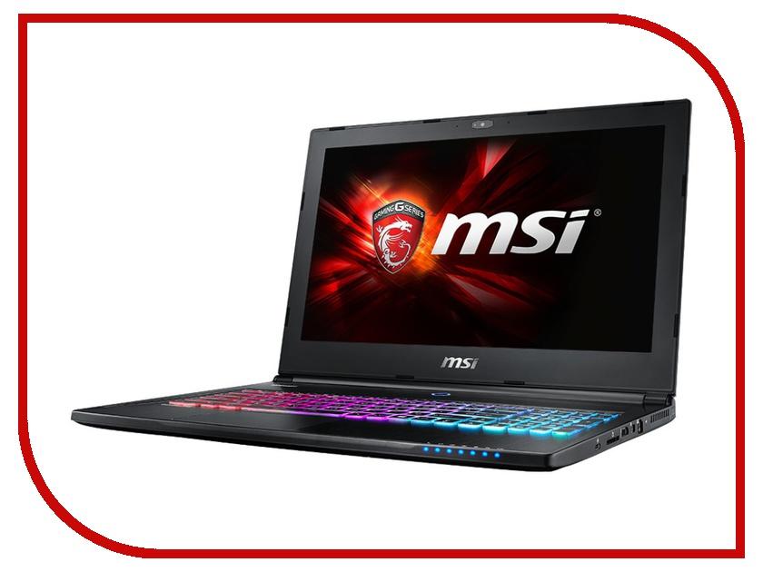 Ноутбук MSI GS60 6QD-259XRU 9S7-16H822-259 Intel Core i5-6300HQ 2.3 GHz/8192Mb/1000Gb/nVidia GeForce GTX 965M 2048Mb/Wi-Fi/Bluetooth/Cam/15.6/1920x1080/DOS<br>