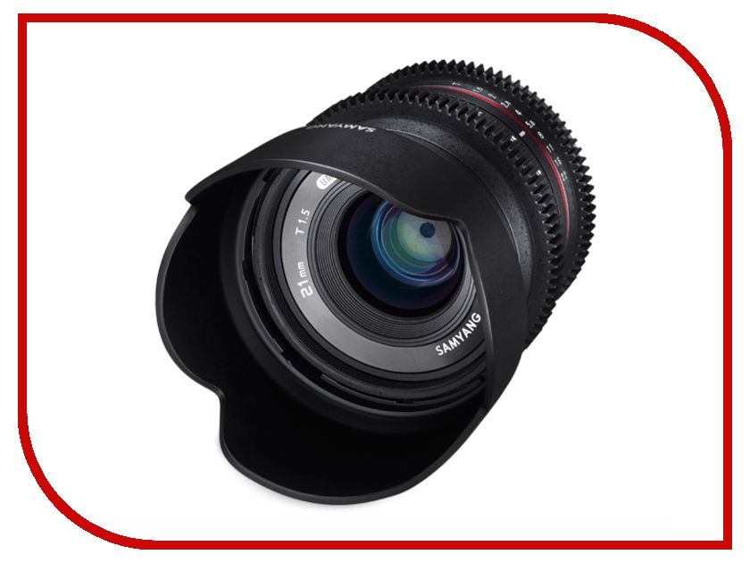 Объектив Samyang Canon M 21 mm T1.5 ED AS UMC CS объектив samyang canon m 50 mm t1 3 as umc cs