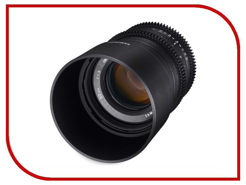Объектив Samyang Canon M 50 mm T1.3 AS UMC CS объектив samyang canon m 50 mm t1 3 as umc cs