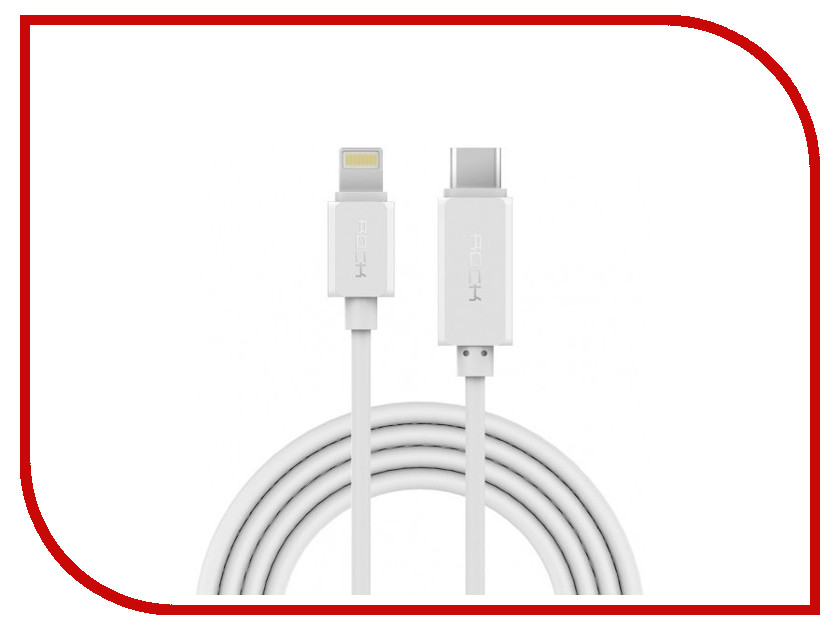Акустическая система для iPhone/iPad/iPod ROCK Type-C to Lightning RCB0414 White<br>