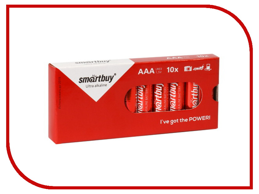 Батарейка AAA - Smartbuy LR03/10 Box SBBA-3A10BX (10 штук)<br>