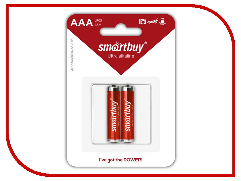 Батарейка AAA - Smartbuy LR03/2B SBBA-3A02B (2 штуки)<br>