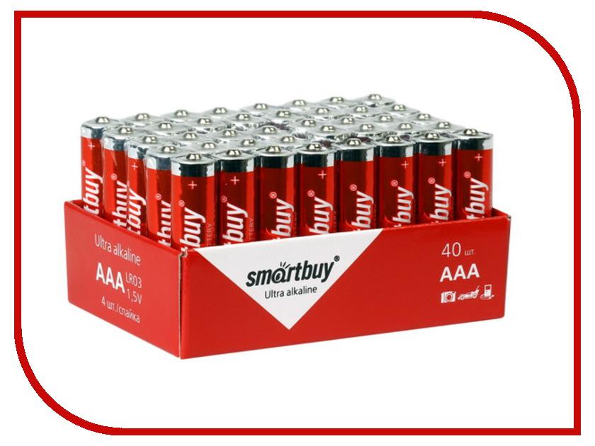 Батарейка AAA - Smartbuy LR03/40 Bulk SBBA-3A40S (40 штук) зубная паста колгейт прополис отбеливающая 50 мл 1109433