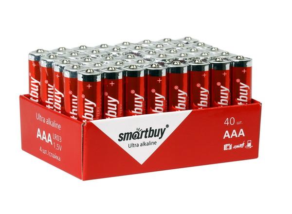 Батарейка AAA - Smartbuy LR03/40 Bulk SBBA-3A40S (40 штук) цена 2017