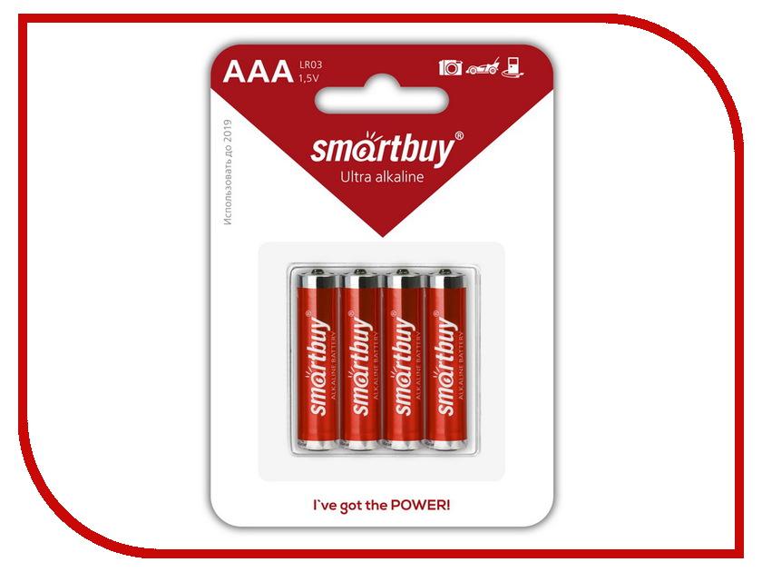 Батарейка AAA - Smartbuy LR03/4B SBBA-3A04B (4 штуки)<br>