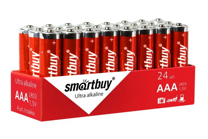 Батарейка AAA - Smartbuy LR03/4S SBBA-3A24S (24 штуки)