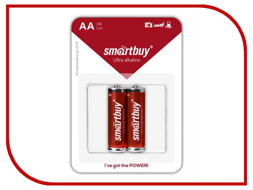 Батарейка AA - Smartbuy LR6/2B SBBA-2A02B (2 штуки)<br>