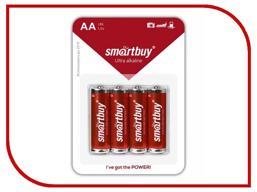 Батарейка AA - Smartbuy LR6/4B SBBA-2A04B (4 штуки)