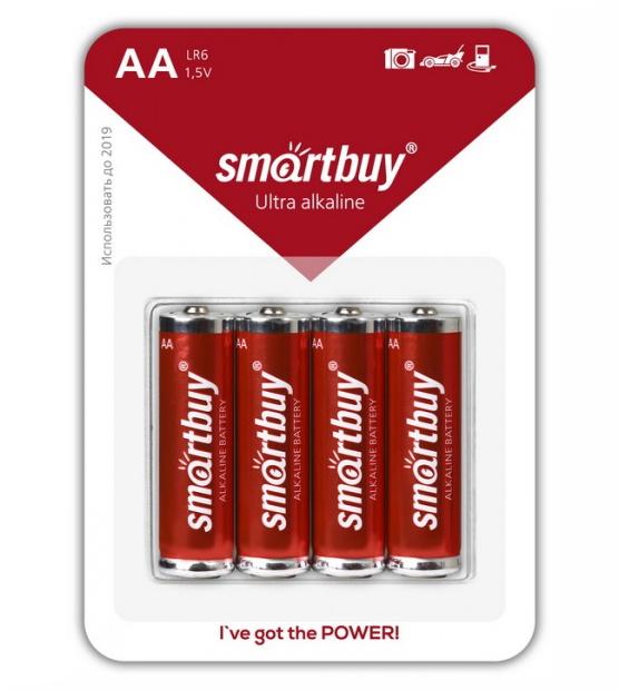 Батарейка AA - Smartbuy LR6/4B SBBA-2A04B (4 штуки)<br>