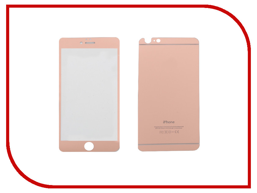 Аксессуар Защитное стекло CaseGuru Mirror Front &amp; Back for APPLE iPhone 6 / 6S Rose Gold 0.33mm Logo<br>