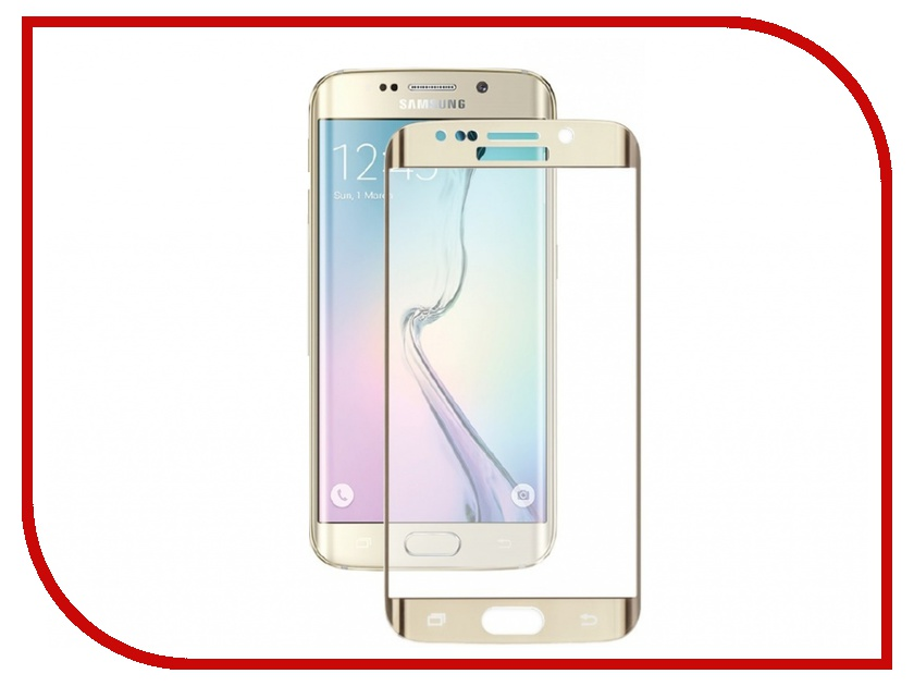 Аксессуар Защитное стекло Samsung G925F Galaxy S6 Edge CaseGuru Mirror 0.33mm Gold 85851<br>