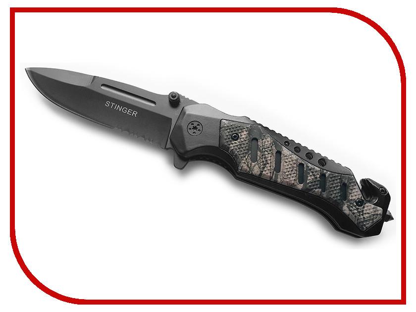 Нож Stinger SA-582GY Black - длина лезвия 90мм<br>