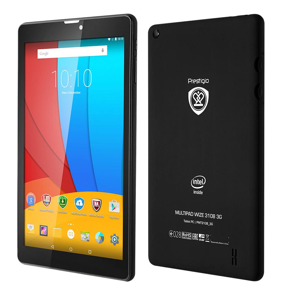 Планшет Prestigio MultiPad Wize 3108 3G Black PMT3108_3G_C_CIS Intel Atom x3 C3230RK 1.2 GHz/1024Mb/8Gb/Wi-Fi/3G/Bluetooth/Cam/8.0/1280x800/Android<br>