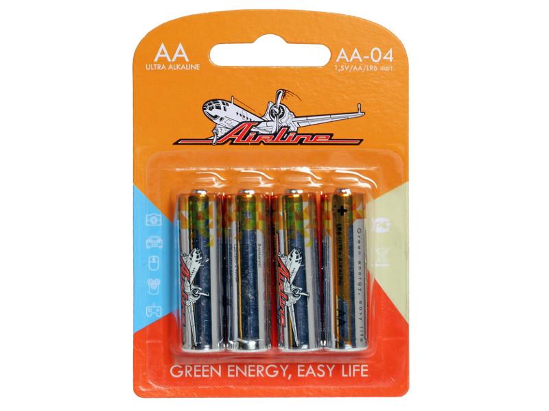 Батарейка AA - Airline AA-04 LR6 (4 штуки) батарейка aa perfeo lr6 4bl super alkaline 4 штуки