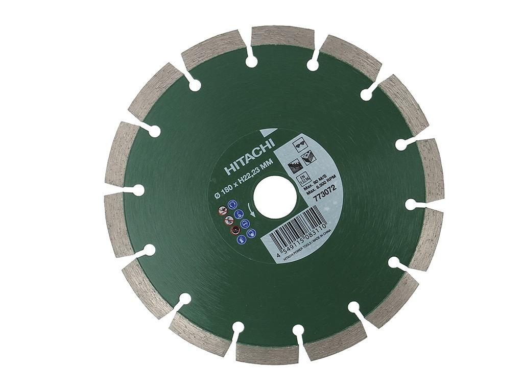 Диск Hitachi 773072 180mm H22.23mm алмазный, универсальный