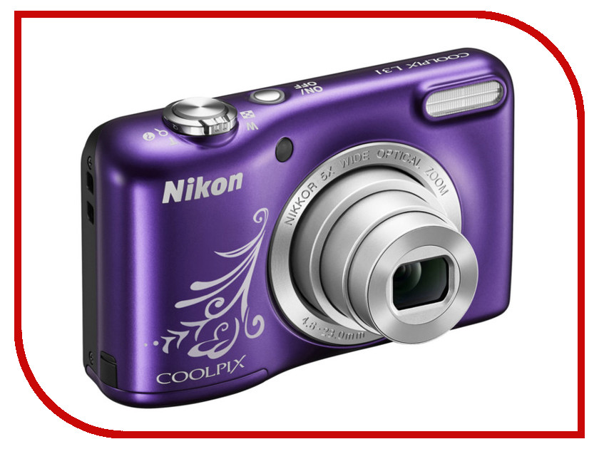Фотоаппарат Nikon Coolpix A10 Purple фотоаппарат компактный nikon coolpix a10 purple lineart