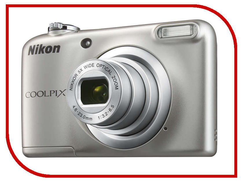 купить Фотоаппарат Nikon Coolpix A10 Silver онлайн