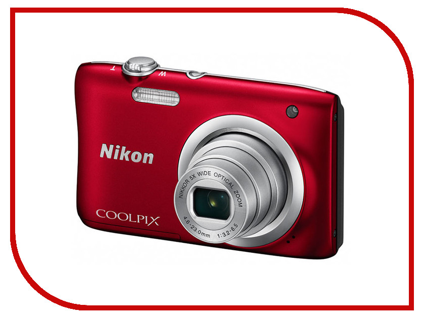Фотоаппарат Nikon Coolpix A100 Red фотоаппарат nikon coolpix a100 purple lineart 20 1mp 5x zoom sd usb 2 6
