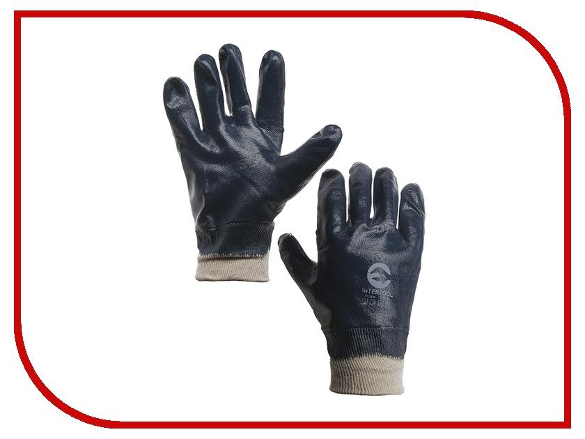 Аксессуар ЛЭВ Перчатки маслобензостойкие нитриловые с плотной фиксацией на руке