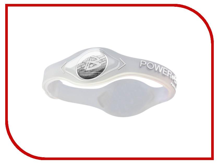 Браслет POWER BALANCE S Core Transparent/White