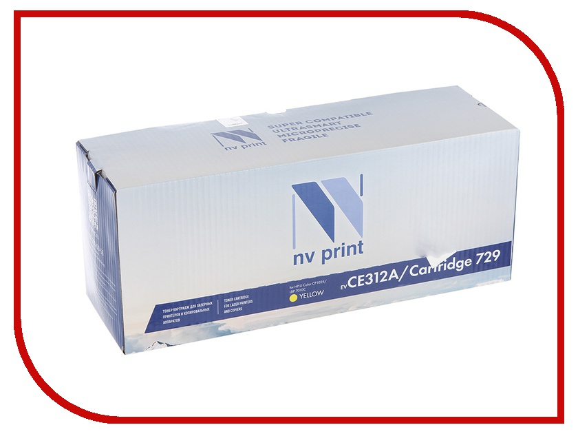 Картридж NV Print CE312A/CRG729 Yellow для HP LaserJet Color CP1025 1000k d19 sbd6943 nv