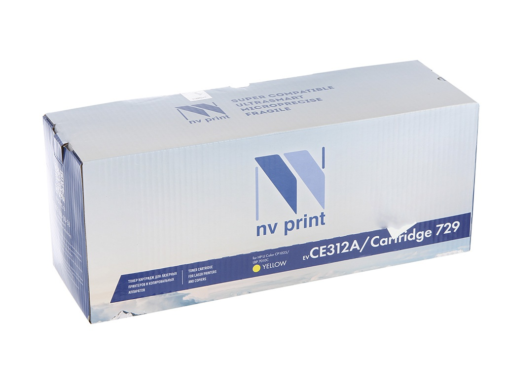 Картридж NV Print CE312A/CRG729 Yellow для HP LaserJet Color CP1025 1000k картридж hp ce312a 126a желтый laserjet cp1025