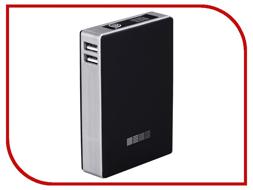 Аккумулятор InterStep PB104002U 10400 mAh 2USB/2A Black 43408<br>
