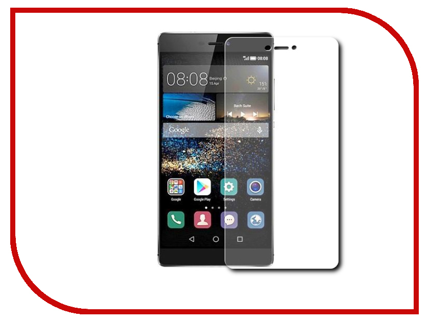 ��������� �������� ������ Huawei P8 Red Line Tempered Glass