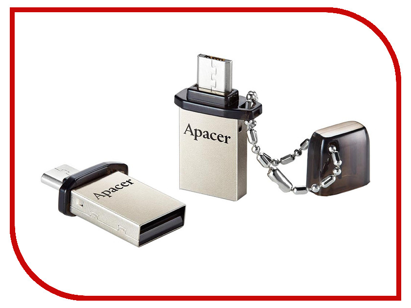 USB Flash Drive 8Gb - Apacer AH175 Mobile OTG microUSB/USB AP8GAH175B-1
