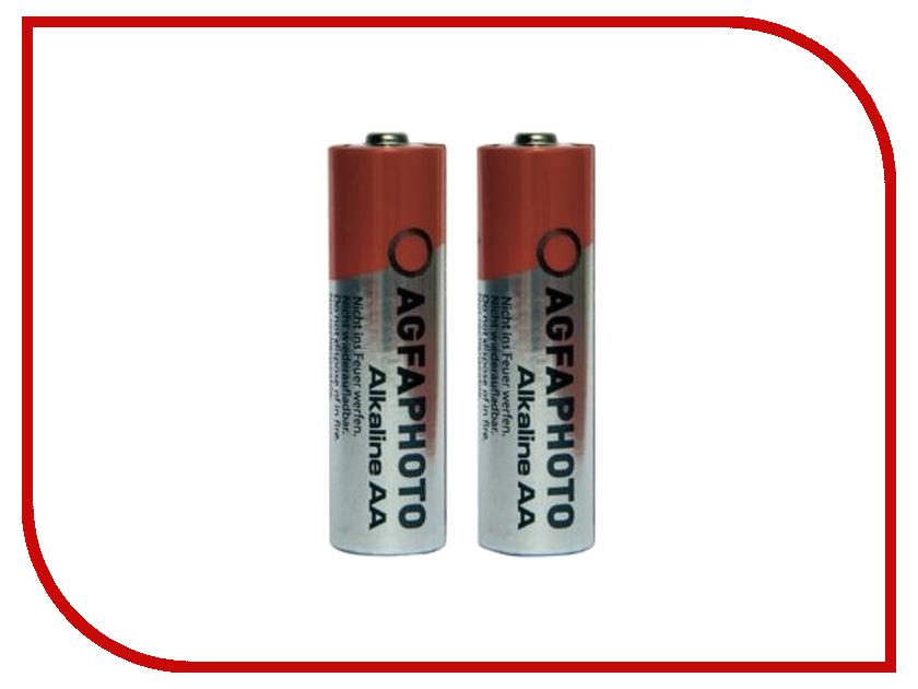 Батарейка AA - AgfaPhoto LR6 Alkaline (2 штуки) pkcell lr6 2100mah 1 5v alkaline aa battery orange 4pcs