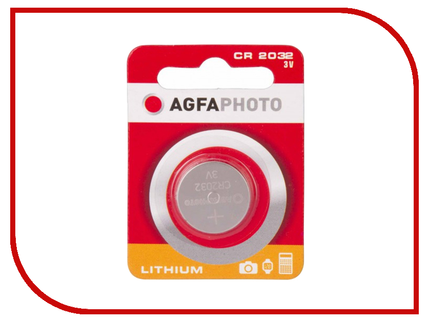 AgfaPhoto - Батарейка AgfaPhoto CR2032 (1 штука)
