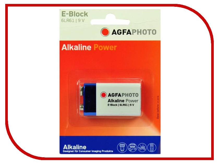 Батарейка КРОНА AgfaPhoto 9V Alkaline (1 штука)<br>