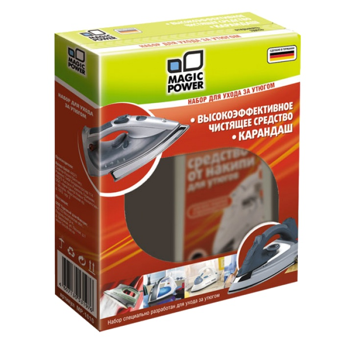Аксессуар Magic Power MP-1010 - набор для чистки утюга<br>
