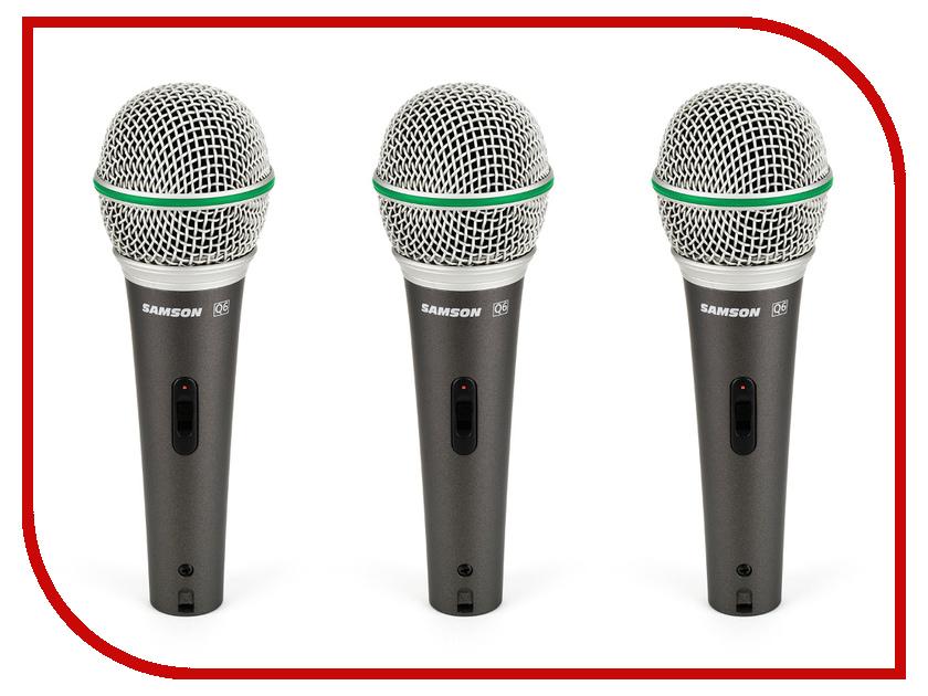 Микрофон Samson Q6 3 Pack<br>