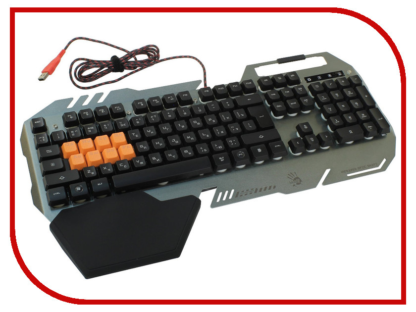 лучшая цена Клавиатура A4Tech Bloody B418 Grey USB