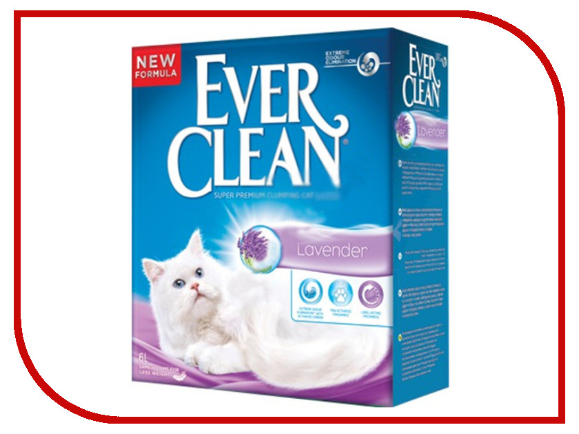 Наполнитель Ever Clean Lavender 6L 492284