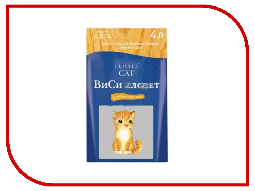 Наполнитель WC for Cats 12L древесный с ароматом хвои 32266