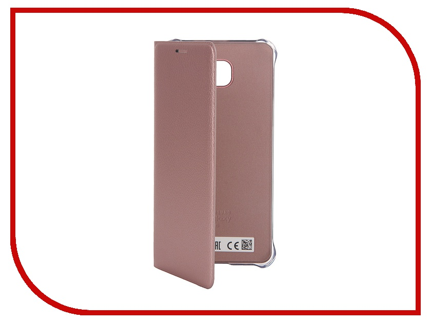 Аксессуар Чехол Samsung Galaxy A5 2016 Flip Wallet Cover Pink-Gold EF-WA510PZEGRU<br>