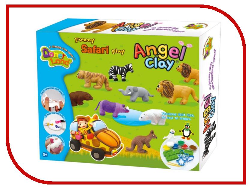 Набор для лепки Donerland Angel Clay Funny Safari AA14021 набор donerland angel clay милый ангел аа07011
