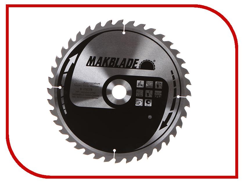 Диск Makita Standart B-29278 пильный по дереву, 305x2.3x30mm, 40 зубьев<br>